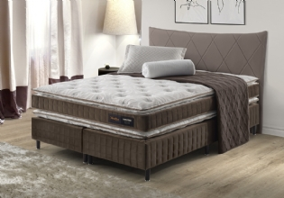 Conjunto Cama Box Casal Evolution