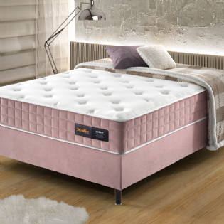 Conjunto Cama Box Casal Liberty Rose