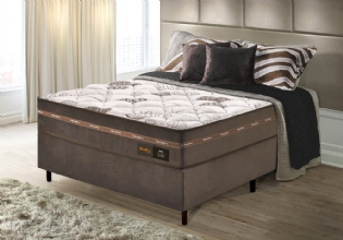 Conjunto Cama Box Ortopédico Queen Max New
